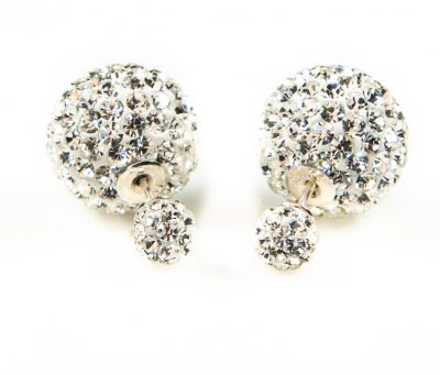 11002 Double Dots White Crystal