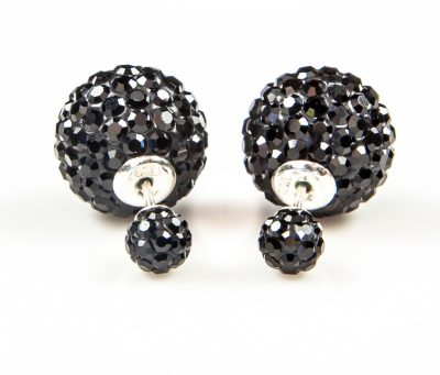11003 Double Dots Black Crystal