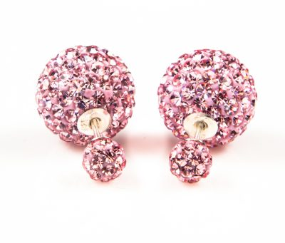 11005 Double Dots Pink Crystal