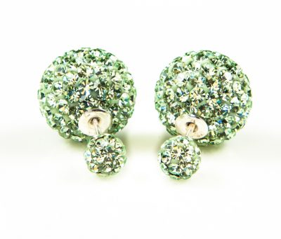 11006 Double Dots Green Crystal