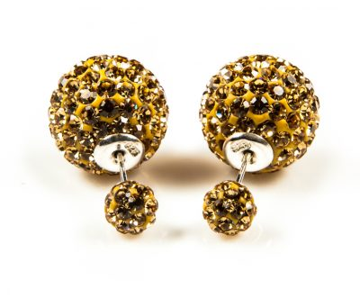 11009 Double Dots Gold Crystal