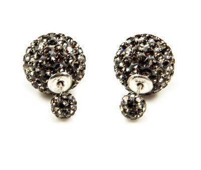 11012 Double Dots Black Diamond Crystal