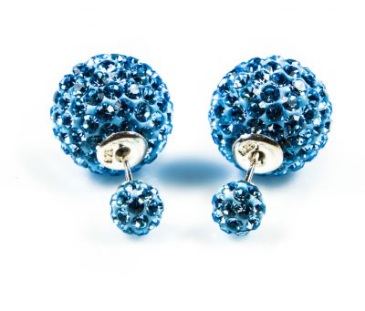 11013 Double Dots Light Blue Crystal