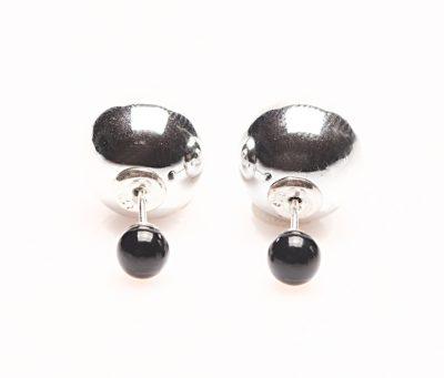 11067 Double Dots Silver meets Black