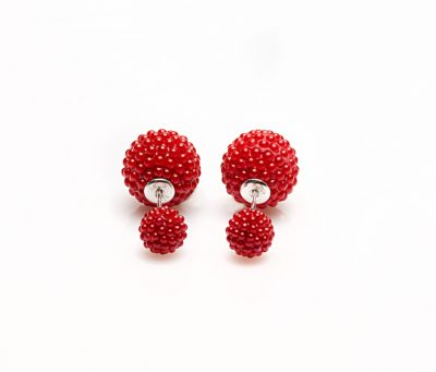 11070 Double Dots Red Spike