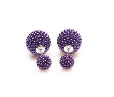 11071 Double Dots Purple Spike