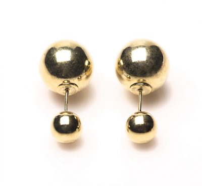 11116 Double Dots Gold-Plated Silver