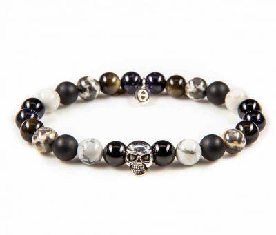 86010 Black & White Skull